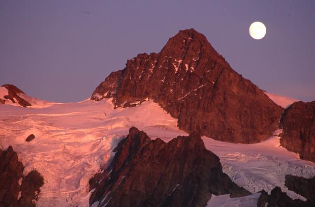 Moonrise at Mt Baker, Mt Baker Snoqualmie National Forest