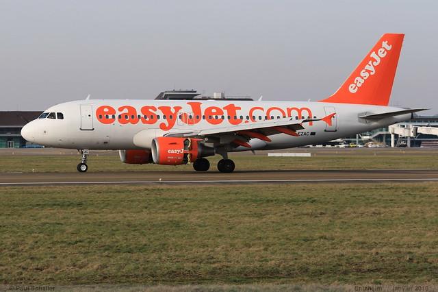 AIRBUS A319 111 EASYJET G-EZAC 2691 Entzheim janvier 2016
