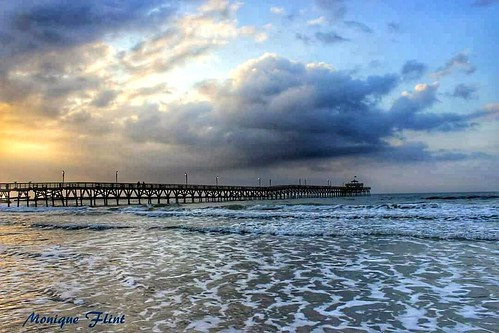 ocean morning blue sky beach nature water weather clouds sunrise landscape pier cloudy weatherphotography