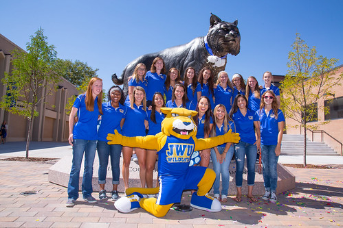 JWU Denver Wildcat Statue dedication