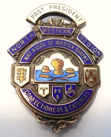 National Association of Master Bakers, Confectioners & Caterers (North West Region) - Past President badge (c.1987) | by RETRO STU