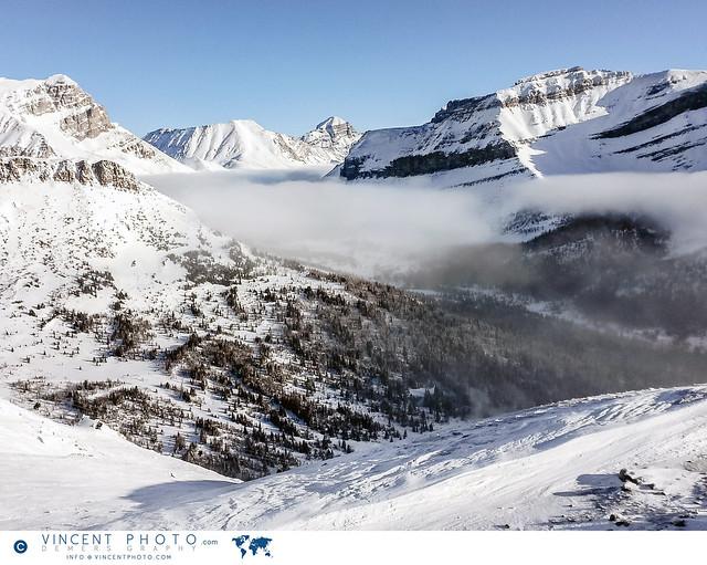 Mountains at the Lake Louise Ski Resort in Alberta, Canada