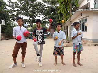 Thanlyin Boys circus 3 ball team