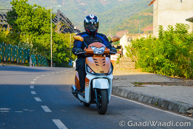 Mahindra Gusto 125 Test Drive review-26