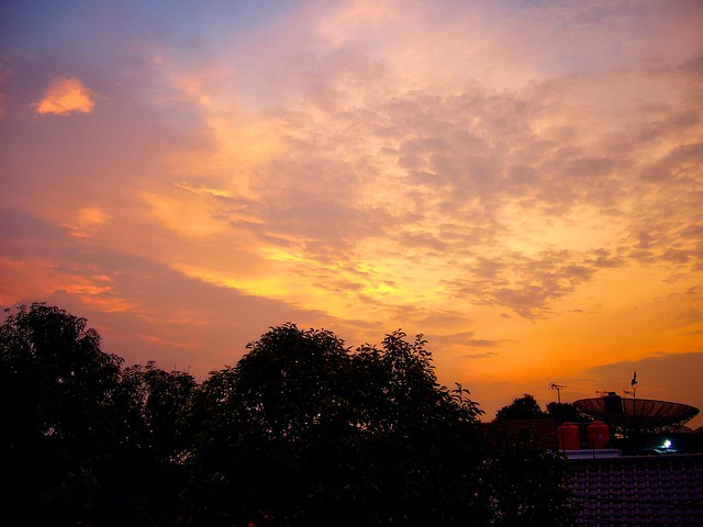 Sunset over Jakarta Selatan, Indonesia