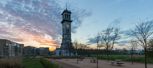 spring copenhagenfields londonist islington greatbritain clocktower metropolitancattlemarket canon5d clouds timeout london tower canon5dmarkiii sunrise sky park clock england bbcengland tolpuddlemartyrs caledonianpark town by londoners canon uk great britain
