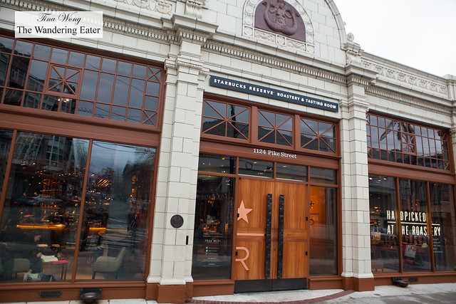 Exterior of the massive Starbucks Reserve Roastery & Tasting Room