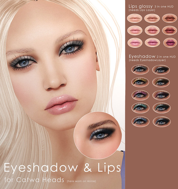 Lips & Eyeshadow for Catwa Heads