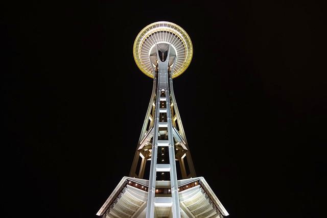 Space Needle by night - Seattle - Washington