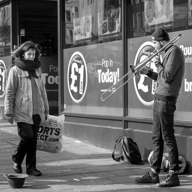 Trombone Man Brighton.