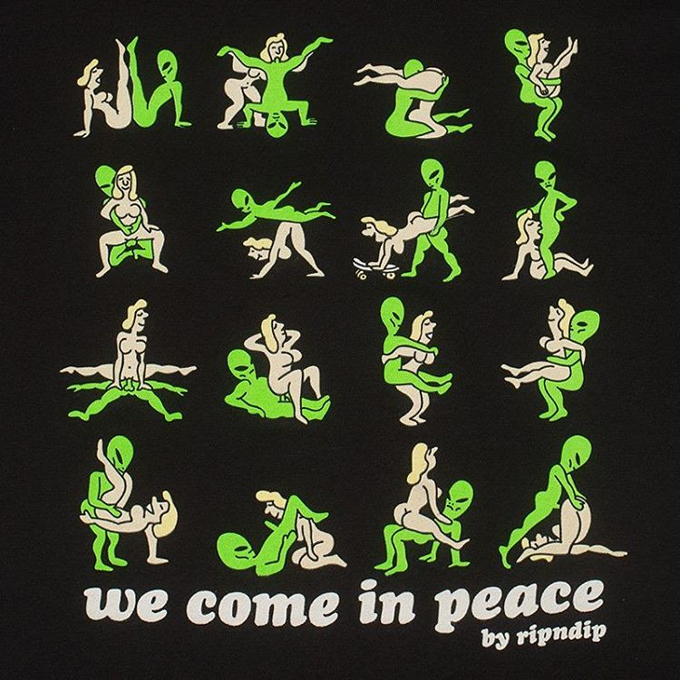 55ed3f9fc ... We come in peace tshirt also available tomorrow in black at our online  shop @ripndip