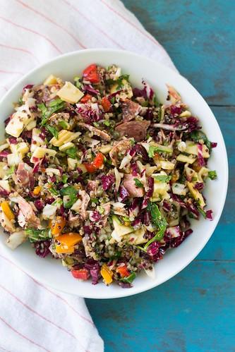 Chopped Antipasto Salad with Quinoa, Arugula and Salami | by FerraroKitchen1