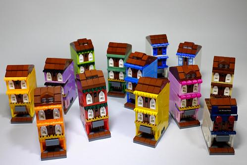 Mini Rainbow Shophouses