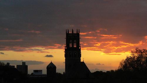 silhouette tramonto nuvole torre sonnenuntergang kirche himmel wolken chiesa campanile cielo nrw nordrheinwestfalen münster münsterland westfalia westfalen kirchturm ludgeri ludgerikirche vestfalia renaniasettentrionalevestfalia ludgeriturm stludgerikirche