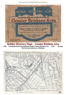 Refidex Directory Maps    Greater Brisbane Area 1926