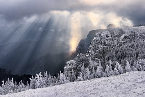 winter light cliff white mountain snow cold nature clouds sunrise landscape 50mm nikon scenery rocks europe view natural outdoor romania rays winterscape massif ceahlau d810 cabanadochia outstandingromanianphotographers