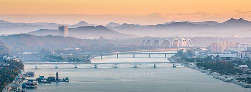 Sunrise view of Mayday Stadium, Pyongyang   by reubenteo