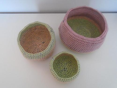 woolapple crochet baskets   by woolapple