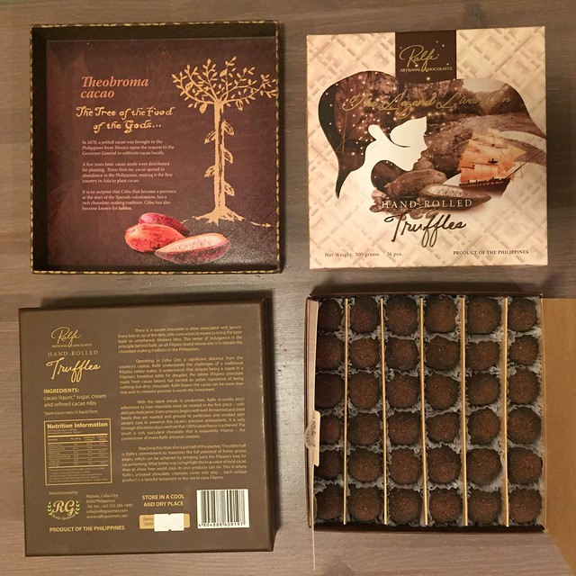 Tasting this Ralfe hand-rolled truffles packaged so beautifully and sent to us by my hb's friend and our son's godfather from Cebu, Philippines. The best truffle we have tasted so far from all of our travels in the world! So exquisitely delicious!