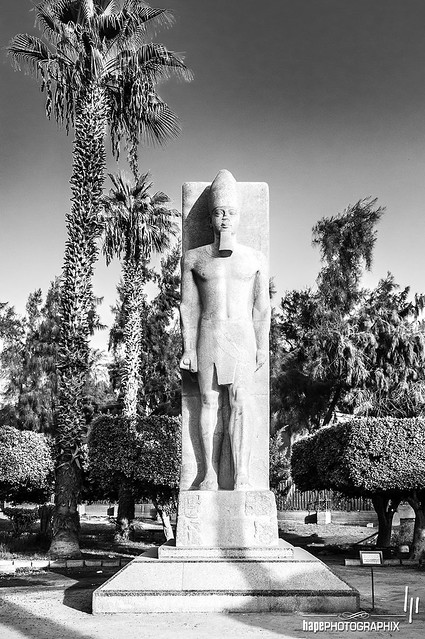 Sculpture from the Middle Kingdom restored in the name of Rameses II