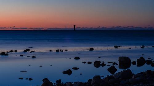 sunset lighthouse night evening skåne sweden outdoor viken öresund