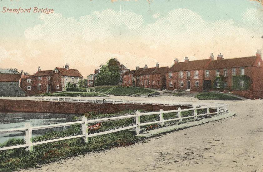 Stamford Bridge, The Square from southwest c.1913 (archive ref PO-1-133-5)