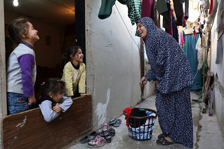 Zainab laughs with her kids | by World Bank Photo Collection