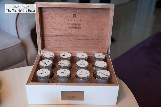 Chest of teas to smell