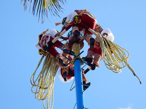Playa del Carmen - voladores touwen opwinden