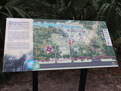 new sign at Gemini Springs | by magnificentfrigatebird