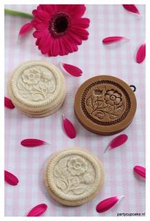 Wild rose sugar cookies
