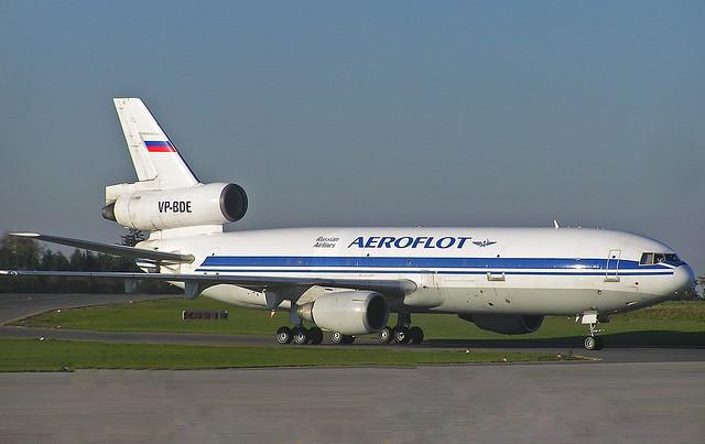 VP-BDE Douglas DC-10 Freighter of Aeroflot Cargo