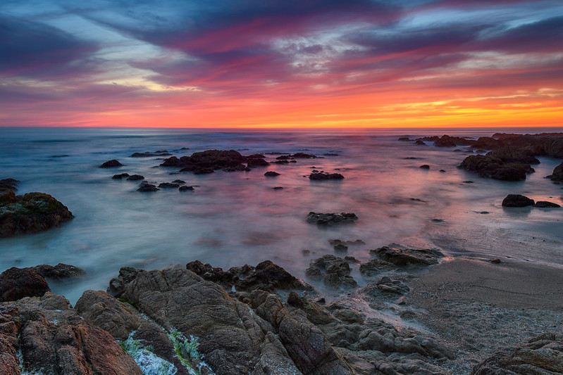 Sunset on Asilomar Beach, California