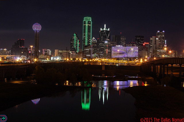 Dallas Christmas Skyline