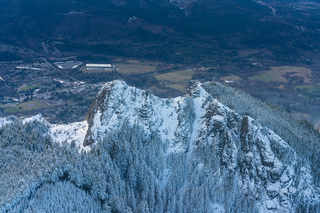 Aerial Backside of Mount Si