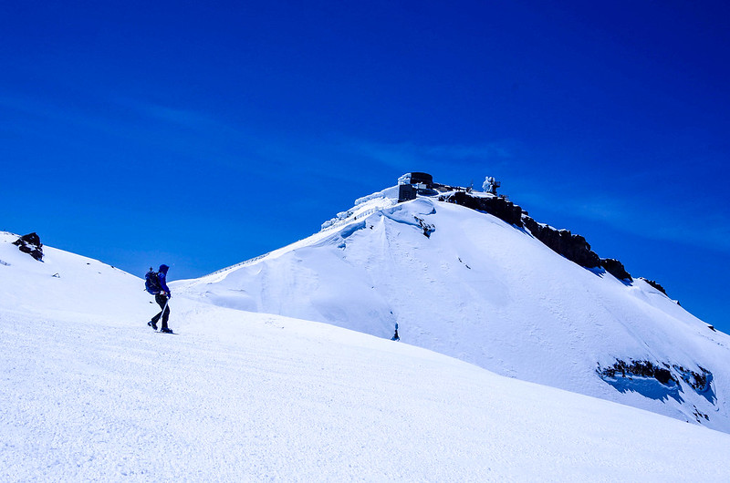 残雪の富士山