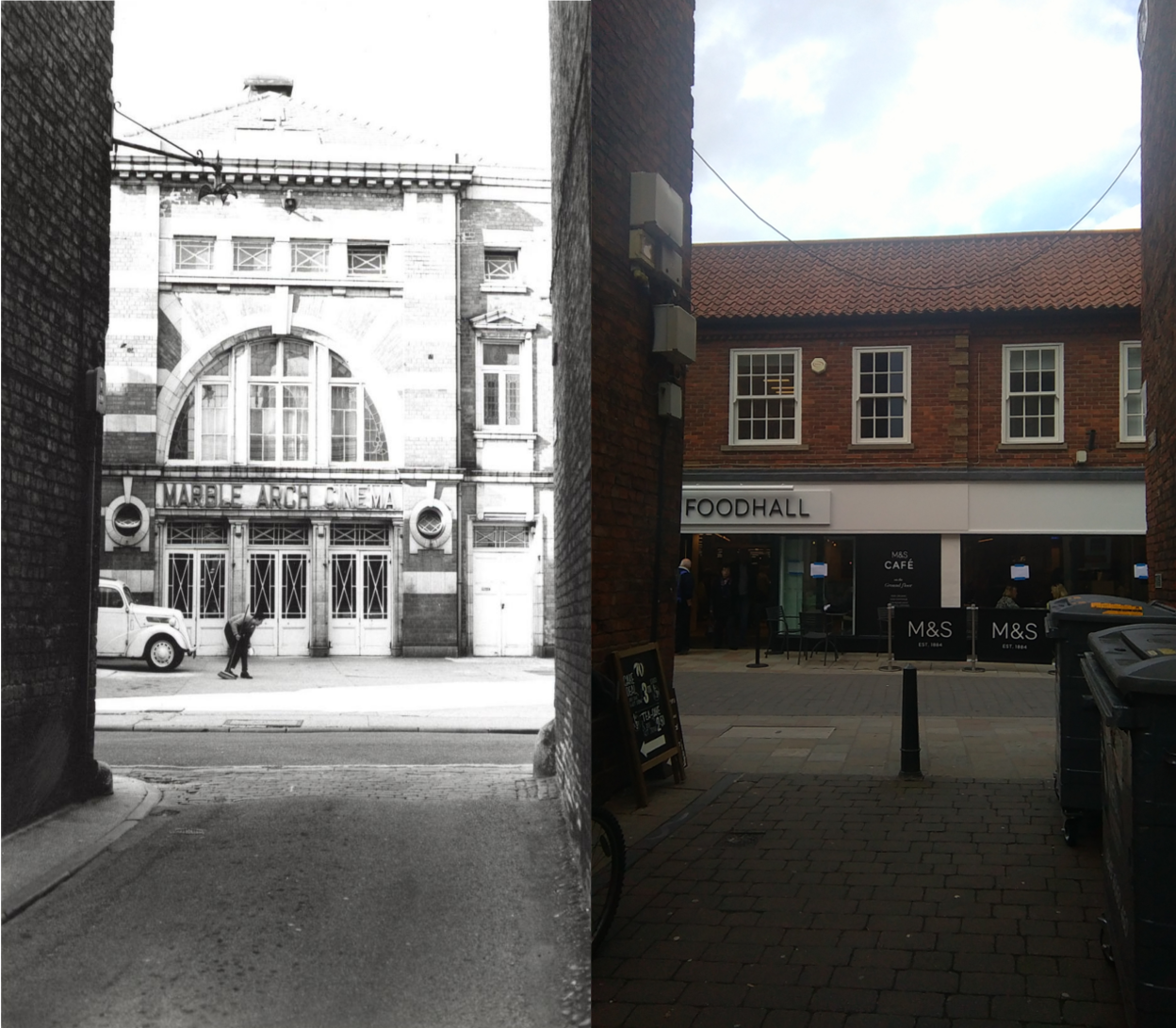Marble Arch Cinema, Beverley - then & now