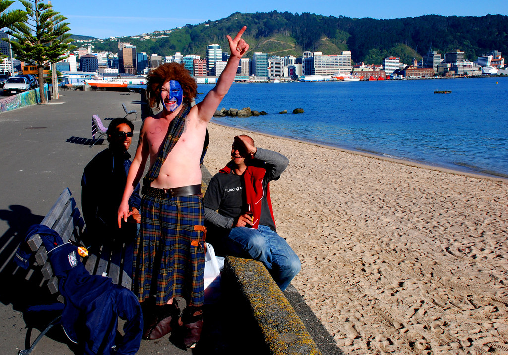 Scottish rugby fans, Wellington, New Zealand, 4 Feb  2007