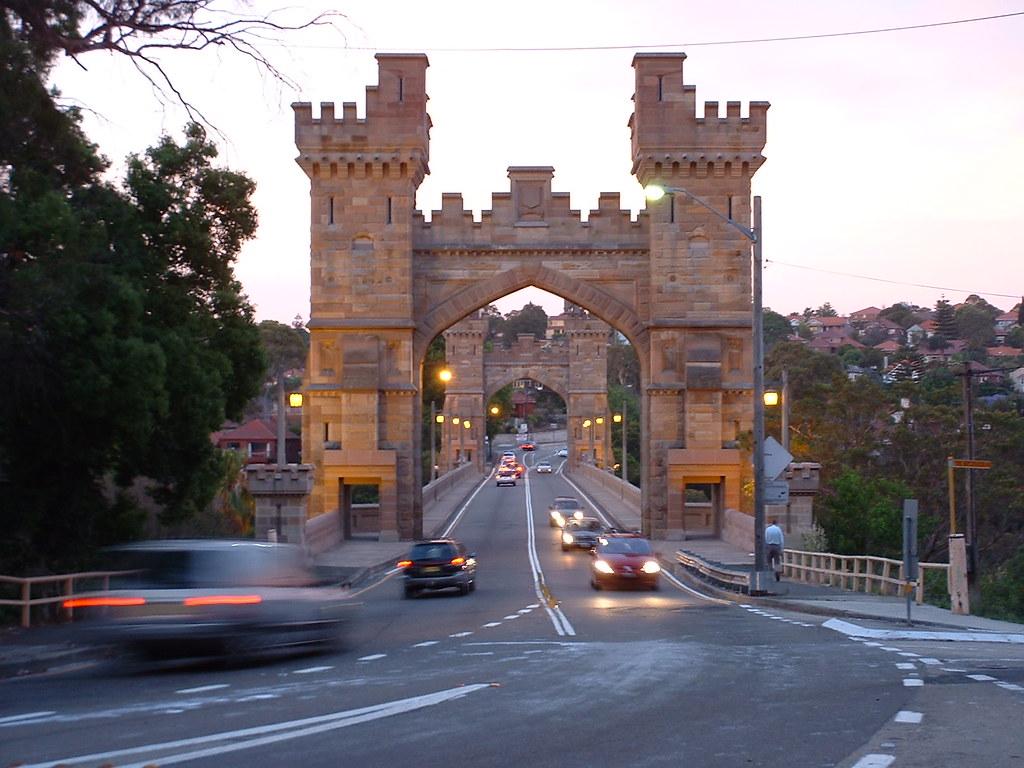 Former Suspension Bridge, Miller St, Cammeray, NSW