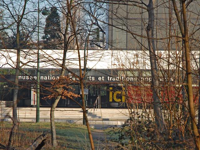 L'entrée de l'ancien musée national des arts et traditions populaires MNATP