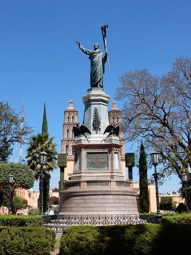 Dolores Hidalgo - beeld van Miguel Hidalgo