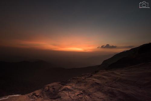 sunset mountains clouds golden rocks eveningsun dusk falls hues waterfalls rivers karnataka westernghats 2016 bandajje