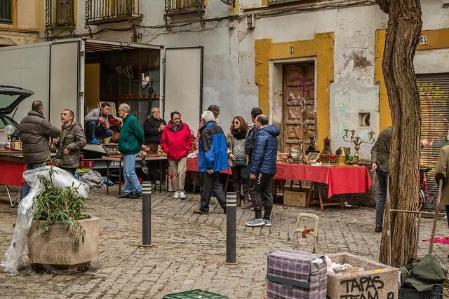Seville Jan 2016 (10) 231 - Mercadillo de los Jueves- A flea market on Calle Feria every Thursday