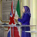 Maryam Rajavi welcomes UK church leaders in NCRI office in Auvers sur Oise %u2013 France, 20-1-2016