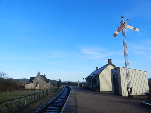 Broomhill Railway Station, Broomhill, Strathspey, Jan 2016
