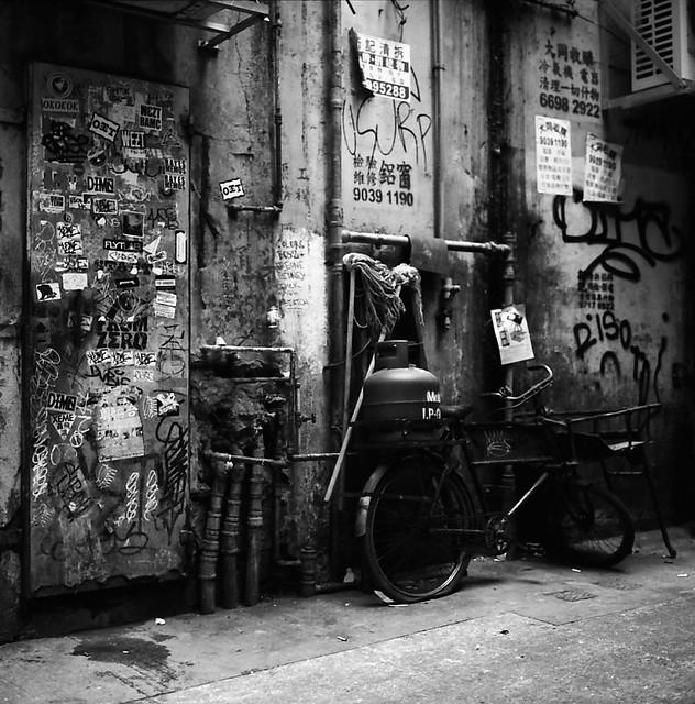 Bicycle, Graffiti, Mops and Pipes