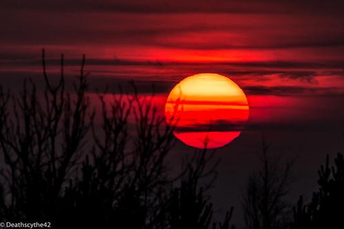sunset red sun nature colors canon landscape paysage loire couleur coucherdesoleil rhônealpes saintétienne eos70d leguizay