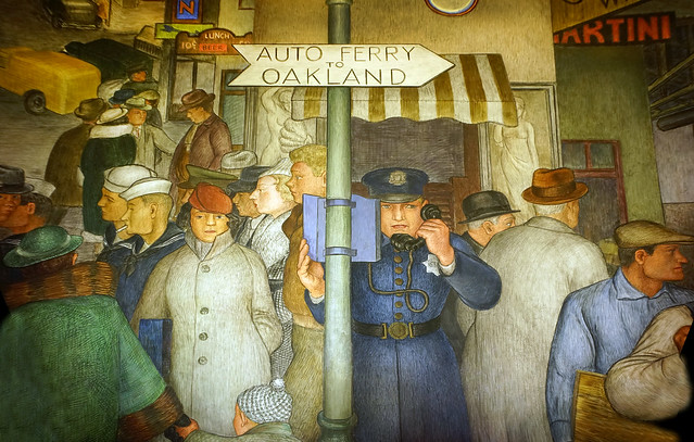Coit Tower Murals - the call box