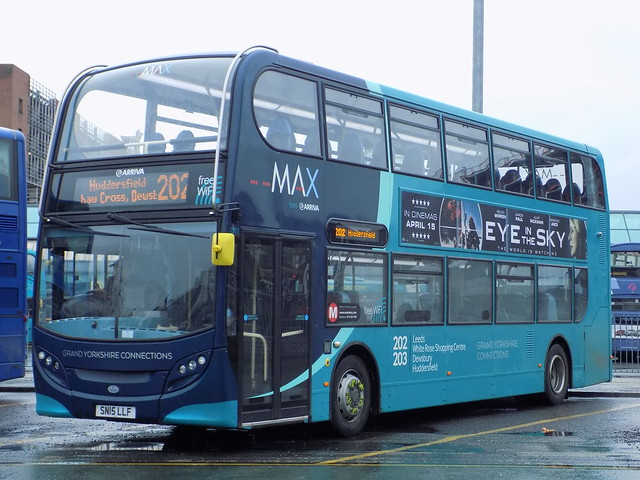 1917 SN15 LLF Arriva Yorkshire MAX Enviro 400 on the 202 to Huddersfield