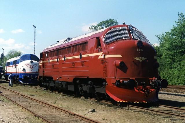 NSB 3616 te Randers op 14-5-1999 (SCAN)